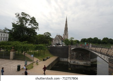 Copenhagen, Denmark - July, 07, 2017: St. Alban's church (Den engelske kirke)