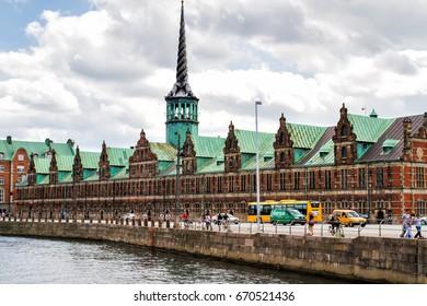 COPENHAGEN, DENMARK - JULY 12, 2011: The Stock Exchange building on Slotsholmen in central Copenhagen,Denmark