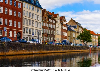 COPENHAGEN, DENMARK - JULY 20, 2017: Architecture of the Old part of Copenhagen, the capital of Denmark