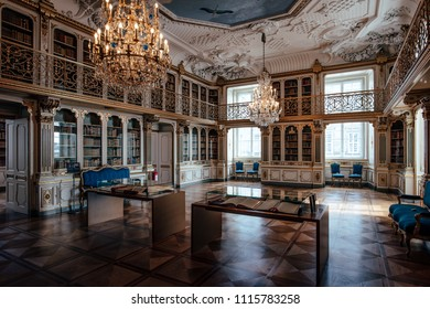 Copenhagen, Denmark - July 25, 2016: The Queen's Library of Christiansborg Palace