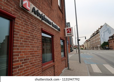 Copenhagen Denmark July 8 2018 Arbejdernes Landsbank Danish Bank