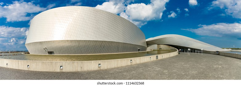 COPENHAGEN, DENMARK - JUNE 14, 2018: Detail of National Aquarium Denmark in Copenhagen. It is northern Europe largest and most modern aquarium, opened at 2013.