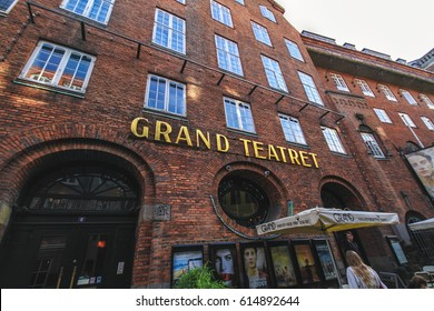 COPENHAGEN, DENMARK - JUNE 15: Building of Grand Teatret, The Grand Theater, the old cinema in 2012