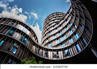 COPENHAGEN, DENMARK - June 2018: Axel Towers building view from the street of Copenhagen downtown, Denmark