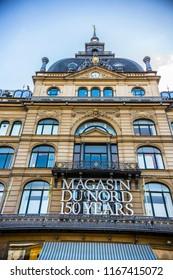 """COPENHAGEN, DENMARK - June 2018: Shopping center """"Magasin du Nord"""" in Copenhagen downtown, Denmark"""
