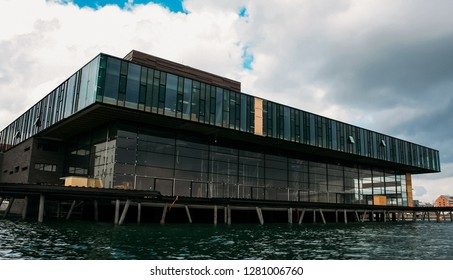COPENHAGEN, DENMARK - June 23, 2016: Royal Danish Playhouse building - a theater building for the Royal Danish Theatre
