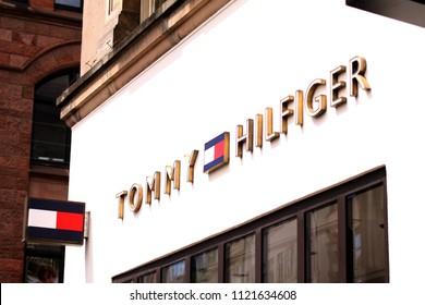 Copenhagen, Denmark - June 26, 2018: Tommy Hilfiger storefront