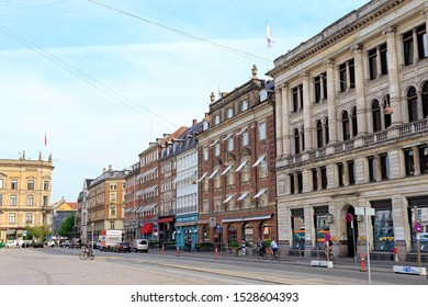 """Copenhagen, Denmark - June 26, 2019: New Royal Square """"Kongens Nytorv"""""""