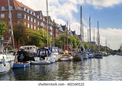 COPENHAGEN, DENMARK - JUNE 29, 2016: This is one of the channels of the Christianshavn district.