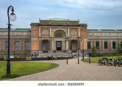 COPENHAGEN, DENMARK - Juny 27: old museum building Danish National Gallery - (Statens Museum for Kunst) in central Copenhagen on Juny 27, 2015 Denmark