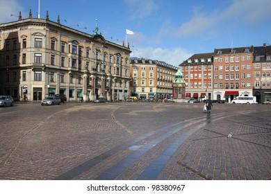 Copenhagen, Denmark - Kongens Nytorv, city square. Oresund region.