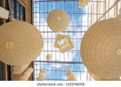 Copenhagen, Denmark - May 04, 2019: Interior of Danish National Gallery, Statens Museum for Kunst, Copenhagen Denmark