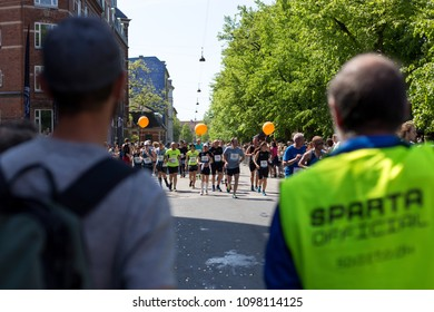 Copenhagen, Denmark - May 13, 2016: Runners at the yearly event Copenhagen Marathon