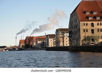 Copenhagen, Denmark – November 24, 2018: Copenhagen Cityscape, Copenhagen, Denmark, Scandinavia, Europe