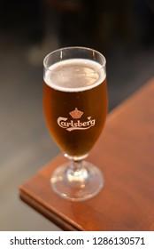 Copenhagen, Denmark – November 24, 2018: Carlsberg Beer, Copenhagen, Denmark, Scandinavia, Europe