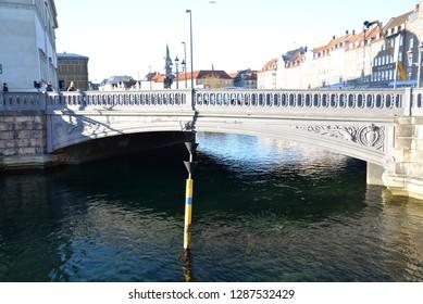 Copenhagen, Denmark – November 24, 2018: Højbro Bridge, Copenhagen, Denmark, Scandinavia, Europe