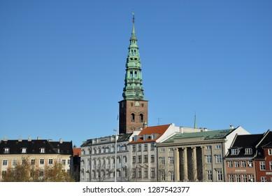 Copenhagen, Denmark – November 24, 2018: Nikolaj, Copenhagen Contemporary Art Center, Copenhagen, Denmark, Scandinavia, Europe