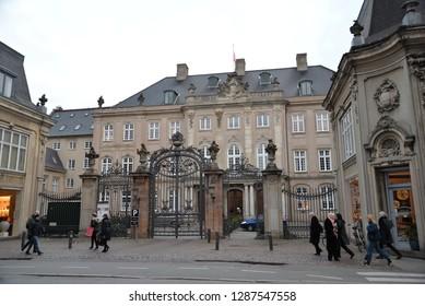 Copenhagen, Denmark – November 24, 2018: Odd Fellows Mansion, Copenhagen, Denmark, Scandinavia, Europe