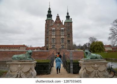Copenhagen, Denmark – November 24, 2018: Rosenborg Castle, Copenhagen, Denmark, Scandinavia, Europe