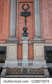 Copenhagen, Denmark - October 09, 2018: View of Ny Carlsberg Glyptotek Freund statue