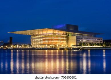 Copenhagen, Denmark on 24th August 2017: The Copenhagen Opera House is the national opera house of Denmark, The A.P. Møller and Chastine Mc-Kinney Møller Foundation donated the building to Denmark