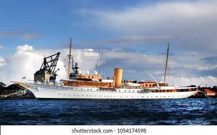 COPENHAGEN, DENMARK - September 12, 2017: KDM Dannebrog launched by Queen Alexandrine at Copenhagen in 1931 and commissioned on 26 May 1932