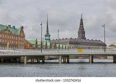 COPENHAGEN, DENMARK - SEPTEMBER 16, 2017: Canal Tour: beautiful view on Copenhagen water front. Canal Tours Copenhagen is a wonderful way of seeing this city.