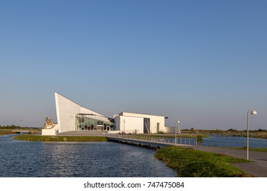 Copenhagen, Denmark - September 24, 2017: Exterior view of the ARKEN Museum of modern art south of Copenhagen