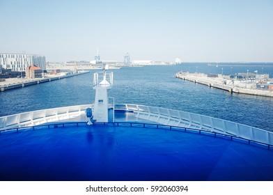 COPENHAGEN, DENMARK - SEPTEMBER 6, 2014 : Copenhagen Port view from MS Crown Seaways. (Dampfaergevej 30 København Ø)