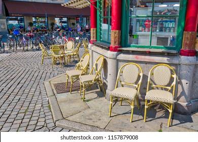 Copenhagen, Denmark-2 August, 2018: Kongens Nytorv central city square