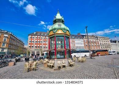 Copenhagen, Denmark-2 August, 2018 Copenhagen, Kongens Nytorv central city square