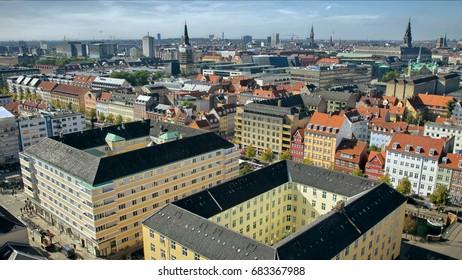Copenhagen skyline and towers
