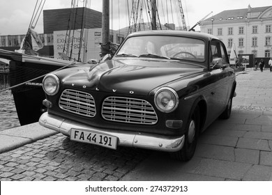 COPENHAGEN,DENMARK - 29 AUGUST 2013 : Vintage car Volvo Amazon in Copenhagen