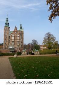 Copenhagen/Denmark - November 01 2015: Rosenborg Castle. This is a renaissance castle, originally built as a country summerhouse in 1606.