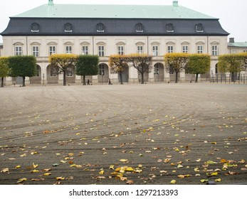 Copenhagen/Denmark - November 01 2015: The Royal Stables and Carriages building. The Royal Stables are located at Christiansborg Palace on the island of Slotsholmen