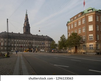 Copenhagen/Denmark - October 31 2015: Christiansborg Palace. This is a palace and government building on the islet of Slotsholmen.