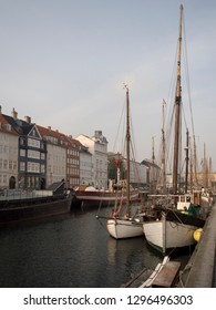 Copenhagen/Denmark - October 31 2015: Nyhavn is a 17th-century waterfront, canal and entertainment district. It is lined by brightly coloured 17th and early 18th century townhouses, bars and cafes.