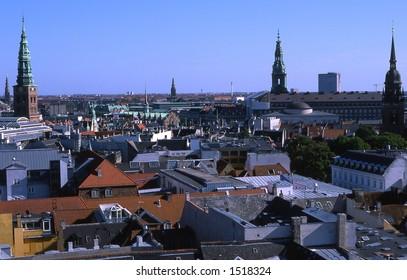 Copenhagen,seen from Round Tower