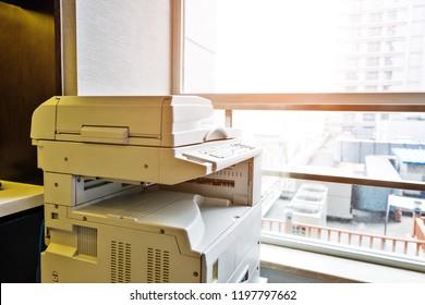 Copier in the office.