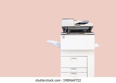 Copier printer, Close up the photocopier or photocopy machine for scanning document printing sheet or copy paper and xerox.