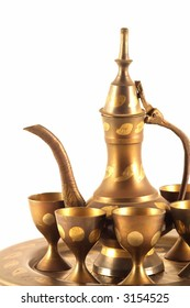 Copper Arabian Coffee Set