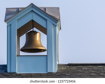 Copper bell in a steeple Outdoor photography urban exploration