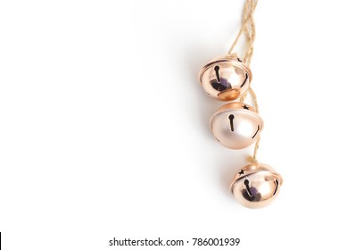 copper bells on white