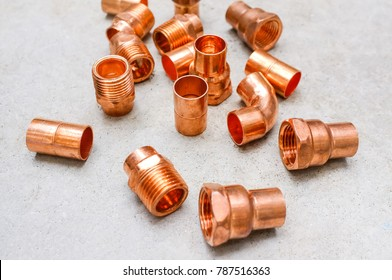 Copper, brass piping and plumbing fitting