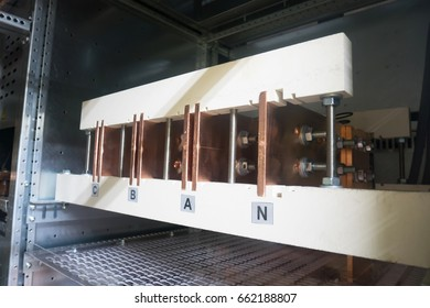 Copper bus bar in the Industrial power case