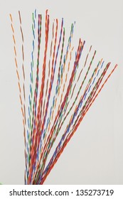 Copper cable with twisted insulated pairs.