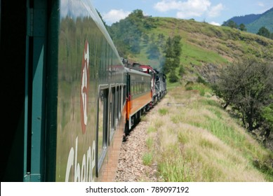 Copper Canyon, Mexico - September 8, 2017: Riding the CHEPE train through north Mexico