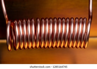 Copper coil close-up