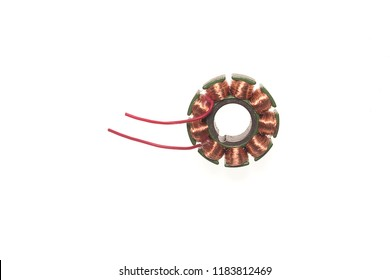 Copper coil Generator,isolated on white