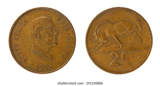 Copper Coins South Africa 2 cents